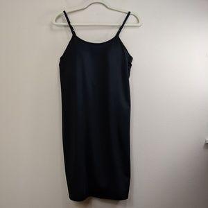 Athleta Black Dress Built in Bra Spaghetti Strap M